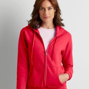 Ladies Gildan Zip Hooded Sweatshirt